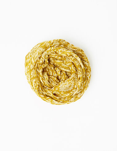 Mustard paisley mini scarf - View all > - Nícoli