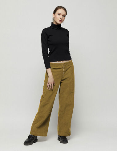 Nut corduroy trousers with buttons - New in - Nícoli