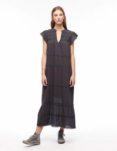 Anthracite long lace dress - Wishlist By Olivia - Nícoli