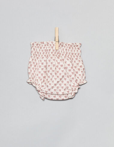 Pink hearts newborn bloomers - View all > - Nícoli