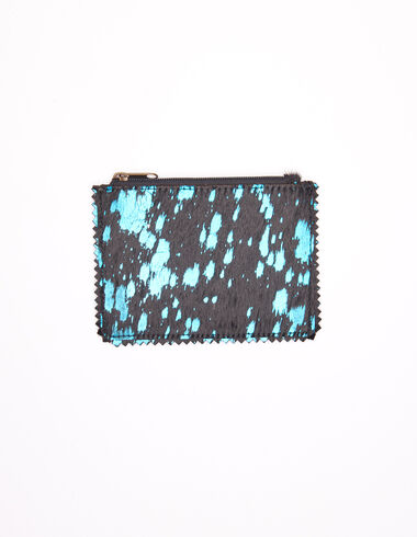 Electric blue mottled leather wallet - View all > - Nícoli