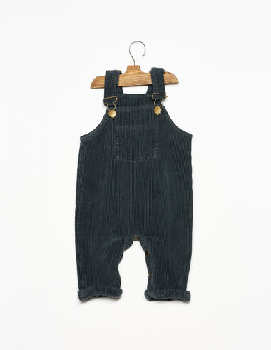Anthracite corduroy baby dungarees - View all > - Nícoli