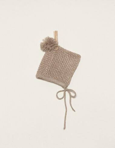 Nut bonnet with pompom - Bonnets - Nícoli