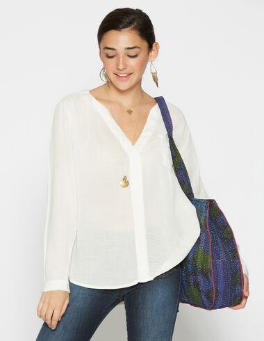 Chemise écrue à poche pour filles - Chemises - Nícoli