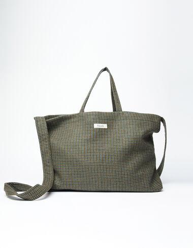 Green tweed Nicoli tote bag - Bags - Nícoli