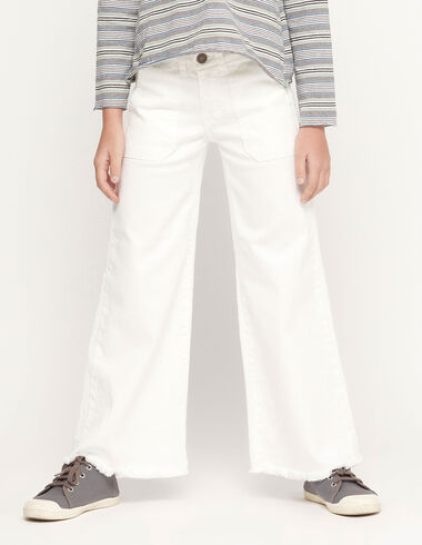 White wide leg trousers with pocket - View all > - Nícoli
