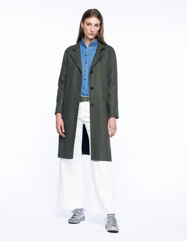 Long green tweed coat - View all > - Nícoli