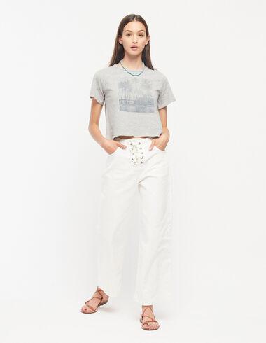 Pantalon large blanc à cordons - Voir tout > - Nícoli