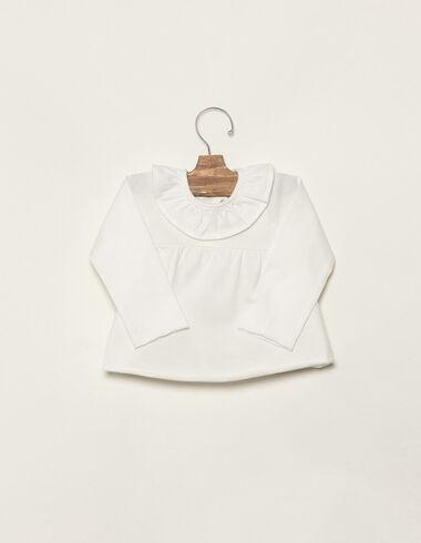 Tee-shirt écru à volant - Voir tout > - Nícoli