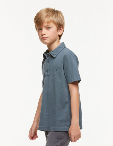 Blue charcoal polo shirt - View all > - Nícoli