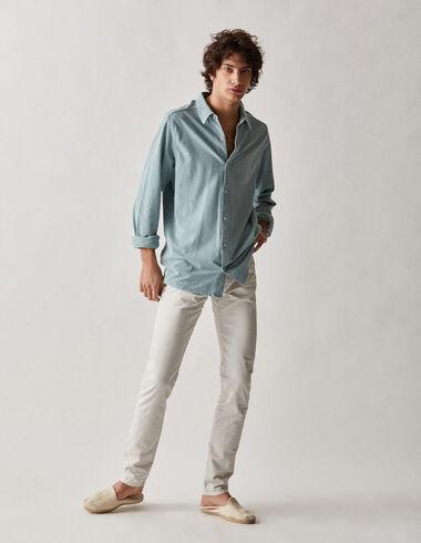 Pantalon écru 5 poches homme - Voit tout > - Nícoli