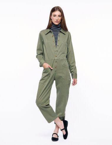 Mono largo verde militar - Green & Denim - Nícoli
