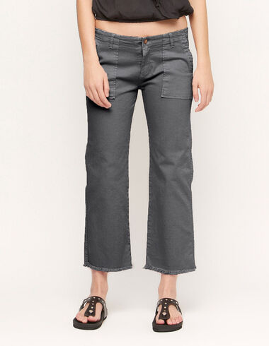Straight Anthracite trousers with pockets - View all > - Nícoli