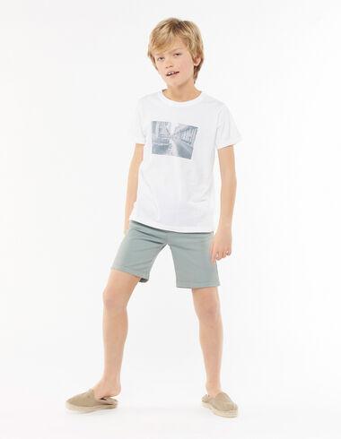 Green chino shorts - View all > - Nícoli