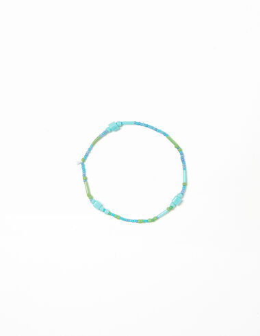 Bracelet billes multicolores vertes - Pareos para el Verano - Nícoli