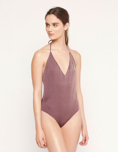 Berry lurex swimsuit - View all > - Nícoli