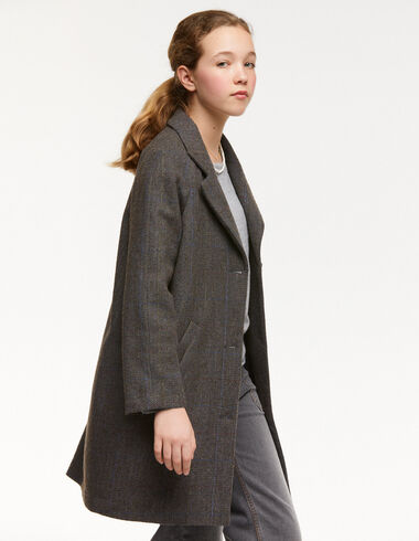 Green herringbone lapel coat - View all > - Nícoli