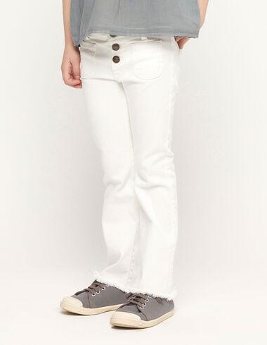 Pantalón campana blanco - Ver todo > - Nícoli
