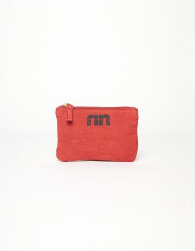 Porte-monnaie 'N' rouge - Porte-monnaie - Nícoli