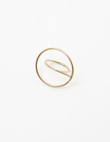 Anillo círculo grande dorado - Anillos - Nícoli