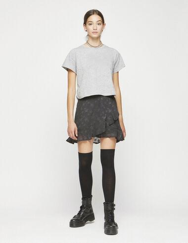 Anthracite star ruffle skirt - Skirts - Nícoli
