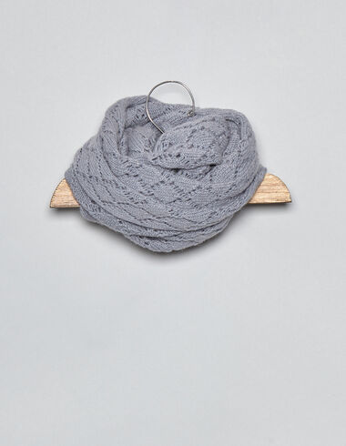 Lavender drop stitch baby scarf - View all > - Nícoli