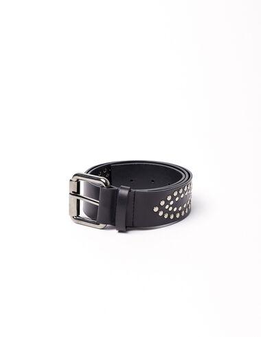 Black belt with diamond studs - Complementos   MAXI - Nícoli