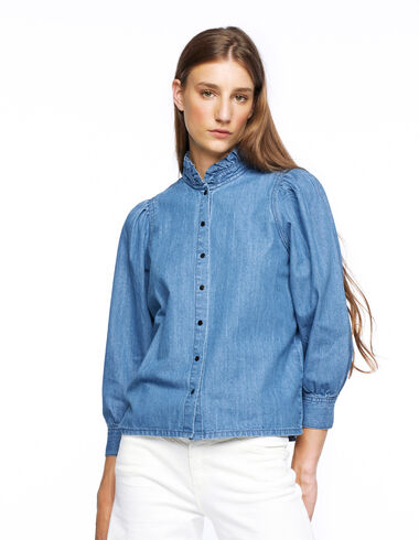 Camisa cuello perkins vaquera - Young Mothers | PARÍS - Nícoli