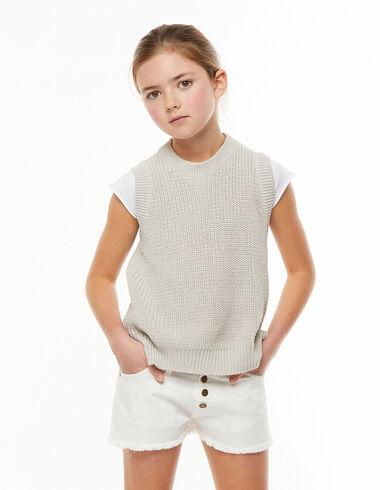 Ecru vest with slit - View all > - Nícoli