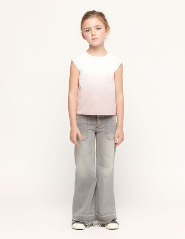 Grey wide leg trousers with pocket - Kids trousers - Nícoli