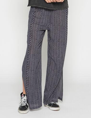 Pantalón chica abertura cebra azul - Pantalones largos - Nícoli