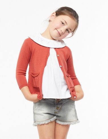 Veste boutons orange - Cardigans - Nícoli