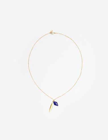 Collier anneau bleu/or  - Voir tout > - Nícoli