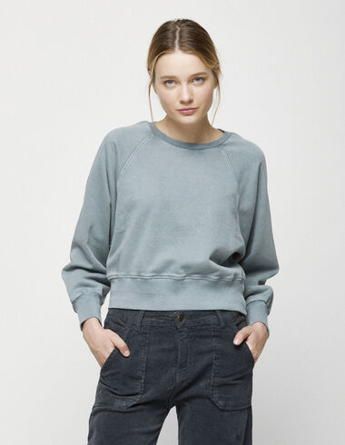 Green sweatshirt with stitching - Jumpers & Sweatshirts - Nícoli