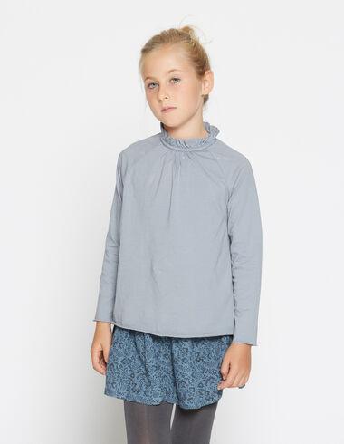 Girl's lavander perkins collar top - Shirts - Nícoli