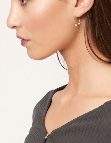 Multicolour beads hoop earrings - View all > - Nícoli