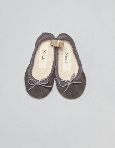 Bailarina bebé estrella gris - Zapatos - Nícoli
