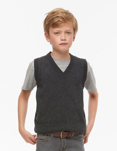 Chaleco cuello pico gris  - New Autumn knitwear - Nícoli