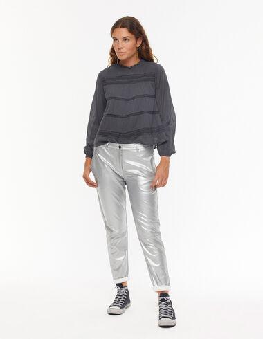 Silver baggy trousers - En Palma con las hermanas Baronet - Nícoli