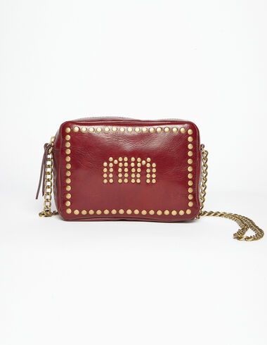 Maroon studded 'N' bag - View all > - Nícoli