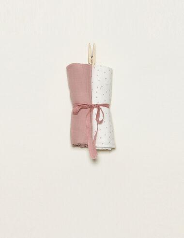 Lot 2 mousselines roses - Voir tout > - Nícoli