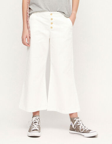 White trousers with buttons - View all > - Nícoli
