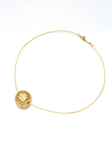 Gold disco ball necklace - View all > - Nícoli