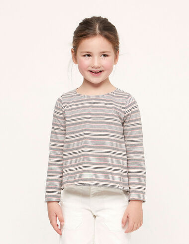 Pink striped long sleeved t-shirt - Special prices - Nícoli