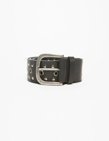Cinturón tachuelas hebilla plata - Cinturones - Nícoli