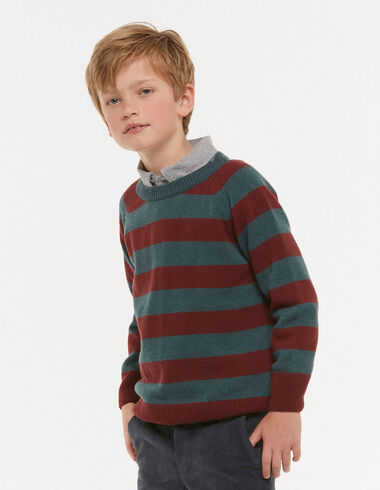 Terracotta striped jumper - New Autumn knitwear - Nícoli
