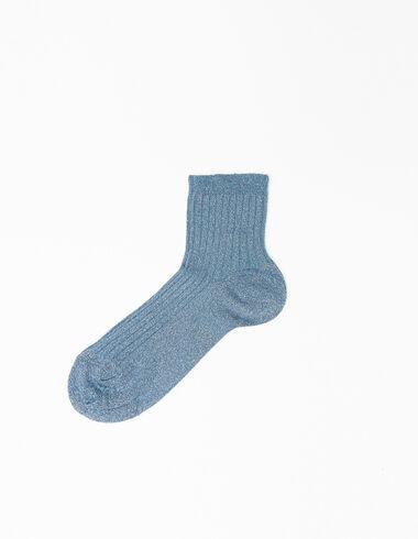 Girl's blue sparkly short socks - View all > - Nícoli