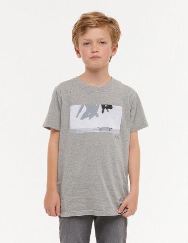 Camiseta 'salto' gris - Camisetas - Nícoli