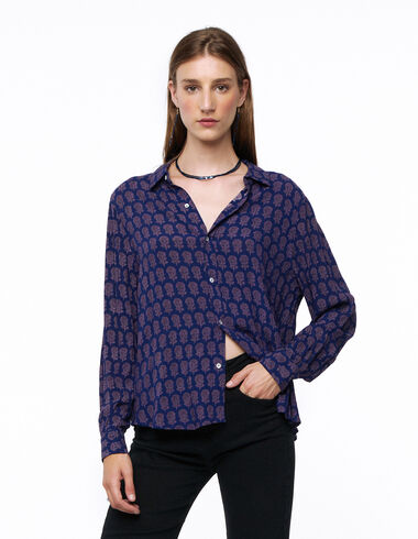Camisa cuello pico flor buti mora - Ver todo > - Nícoli