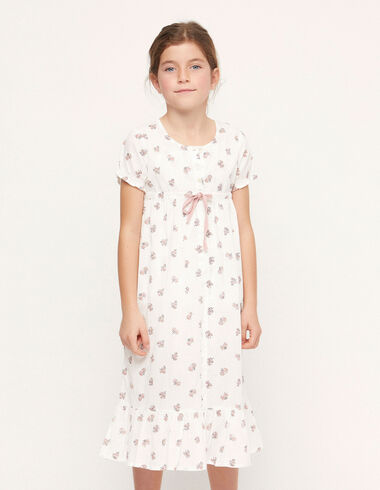 Pink floral print dressing gown - Charity t-shits - Nícoli